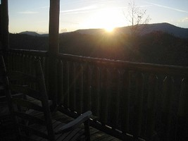 View the beautiful sunrise from your cabin deck